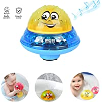 Spray Water Baby Bath Toy,Baby Bathtime Fun Toys,Rotating Spray Water Bath Toy with 2 Music and Flashing Lights Can Drifting Bathtub Shower Toys,Birthday Summer Gift for Toddlers Boys Girls