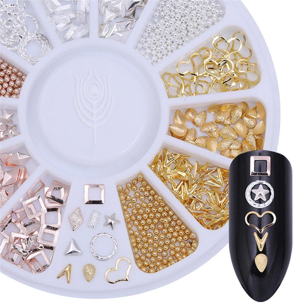 Decoración Born Pretty en 3D para uñas con estrellas de mar, caballitos de mar y conchas