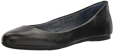 Dr. Scholl's Shoes Women's Giorgie Flat, Black Leather, ...