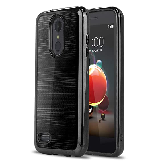 Phone Case for [LG Zone 4 (Verizon Wireless)], [Chrome Series][Black]  Shockproof Soft TPU Rubber [Electroplated Bumper] Cover for LG Zone Optimus  4
