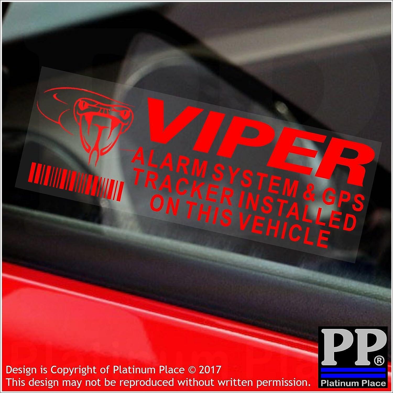 Fensteraufkleber Viper Alarm Und Gps Tracking Gerätesicherheit Rot Transparent Aufkleber 87 X 30 Mm Für Auto Lieferwagen Warn Schilder 5 Stück Elektronik