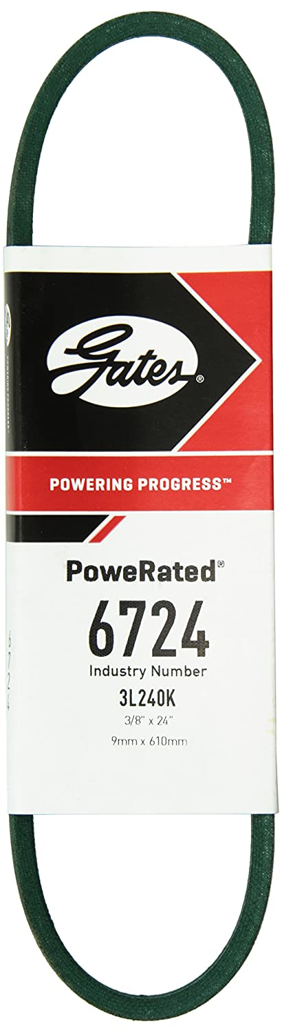 Gates 6724 PoweRated V-Belt 24.0 Belt Outside Circumference 7//32 Height 3L Section 3//8 Width