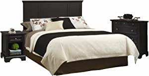 Bedford Black Queen Headboard, Nightstand and Chest by Home Styles