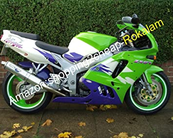 Amazon.com: Venta caliente, Ninja ZX9R verde blanco azul Kit ...