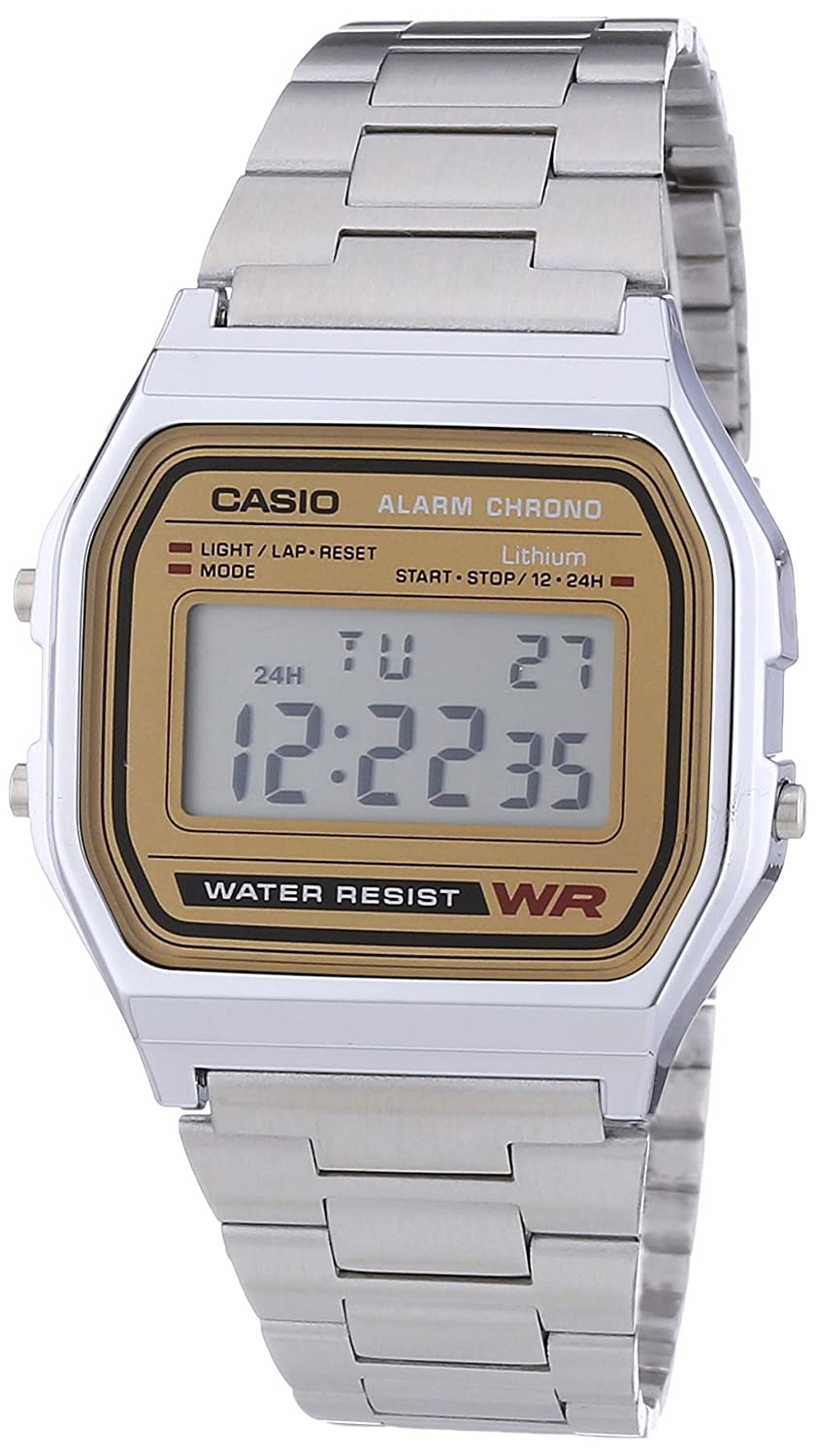 Casio Collection Reloj Digital Unisex con Correa de Acero Inoxidable – AWEA