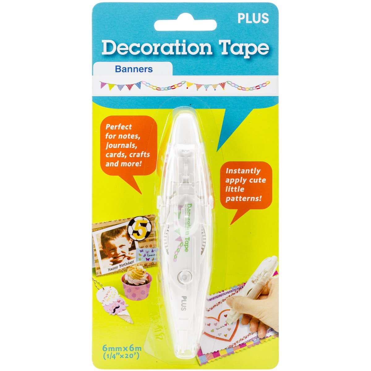 Amazon.com: Plus Corporation Decoration Tape Pen, Banners: Arts ...
