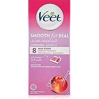 Veet Smooth Real Underarm Wax Strips - Nectarine,8 Strips
