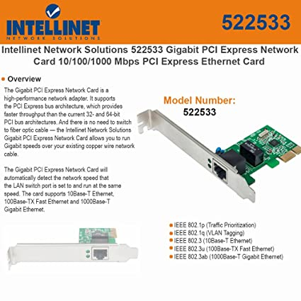NEW DRIVER: INTELLINET NETWORK CARD
