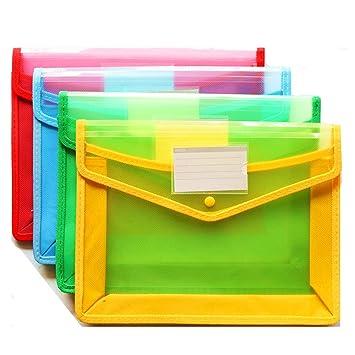 4er Pack Durchsichtigen Kunststoff Brieftasche A4 Hängende