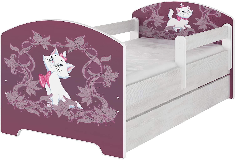 Schublade und Matratze Original Disneys Kinderbett mit Rausfallschutz 70x140, Cars
