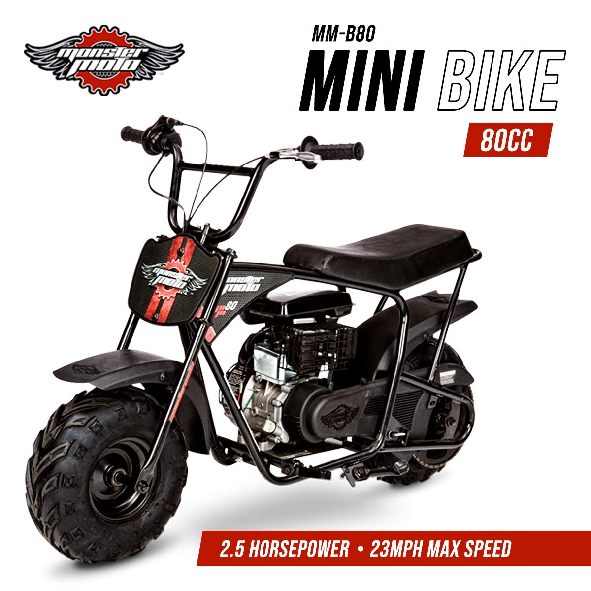 Amazon.com: Monster Moto MMB80B Without Suspension 80CC 2.5HP Mini ...