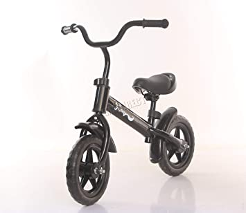 d647b5490eb FoxHunter LowRiderX Kids Balance Bike Black   Children's Bike No Pedals   First  Bike for kids