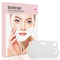 V Shaped Slimming Face Mask | Double Chin Reducer for Firming Moisturizing & Contour Lifting | Instant Lift Strap Wrinkles Remover | V-Line Beauty Band Patch with Collagen Vitamin E & C - 5 Pack