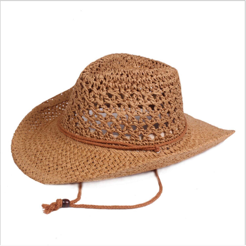 Fashion Sunhat Wide Brim Straw Hat Summer Beach Sun Cap for Men Women,Milk White