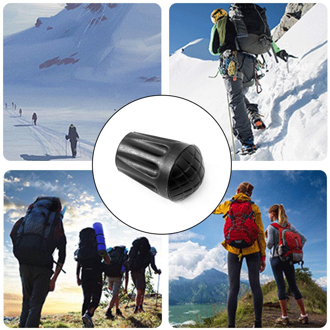 Trekking Universal Tapa Cubierta Protectores Puntas de Goma para Bastones de Trekking Jzhen 12PCS Puntas de Goma para Bastones