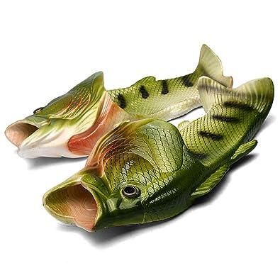 Fisch Hausschuhe Lustige Schuhe Slippers Unisex Anti Rutsch Strand