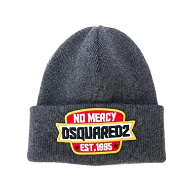 28c9581d1da Men s Accessories Dsquared2 No Mercy Grey Wool Beanie Spring Summer 2018