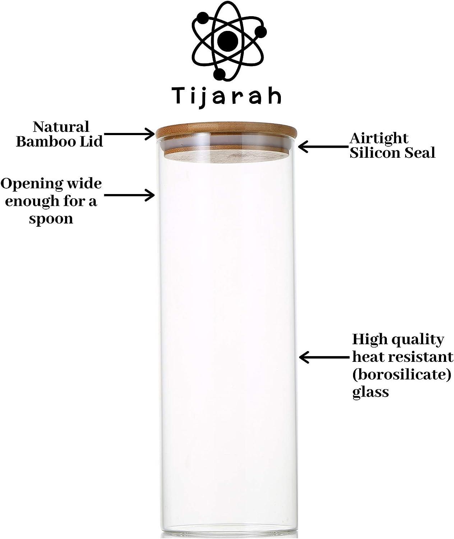 Vivalto 6 x Botes de Cristal para Cocina de 230 ml con Tapa de Acero Inoxidable Conserva y Preserva Pack 6 Unidades Tarros de Vidrio Herm/éticos
