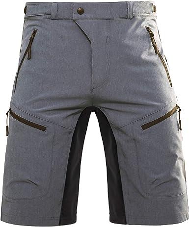 Hiauspor Pantalones Cortos De Ciclismo De Montana Para Hombre Holgados Pantalones Cortos De Mtb Para Hombre Ajuste Holgado Para Ciclismo Ciclismo Con Bolsillos Amazon Es Ropa Y Accesorios