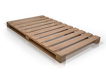 Moebel Eins Paletti Massivholzbett Holzbett Palettenbett Bett Aus Paletten In 140 X 200 Cm Rustikal Gebeizt 140 X 200 Cm