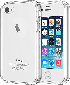 JETech Coque Compatible avec iPhone 4s et iPhone 4, Shock-Absorption et Anti-Rayures, Clair