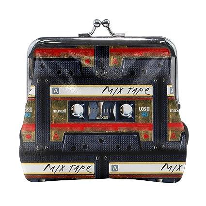 Cartera de Piel con Hebilla y Cinta de Cassette: Amazon.es ...