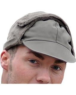 eb905bc7134 VIZ-UK WEAR Genuine German Army Issued Olive Green Winter Pile Hat New