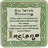 Celtic Collection Loose Coaster With Irish Blessing Design