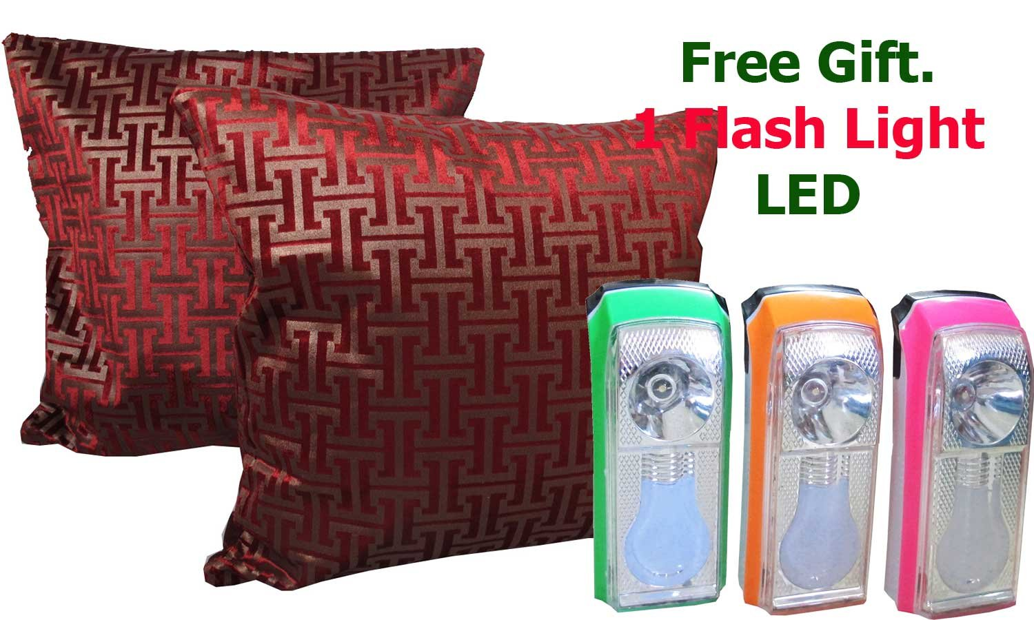 Thai Jewelry Presents. One Pair Graphic Throw Pillow Cover Decorative Sofa Couch Cushion Cover Zippered 17 X 17 InchFREE 1 FLASH LIGHT