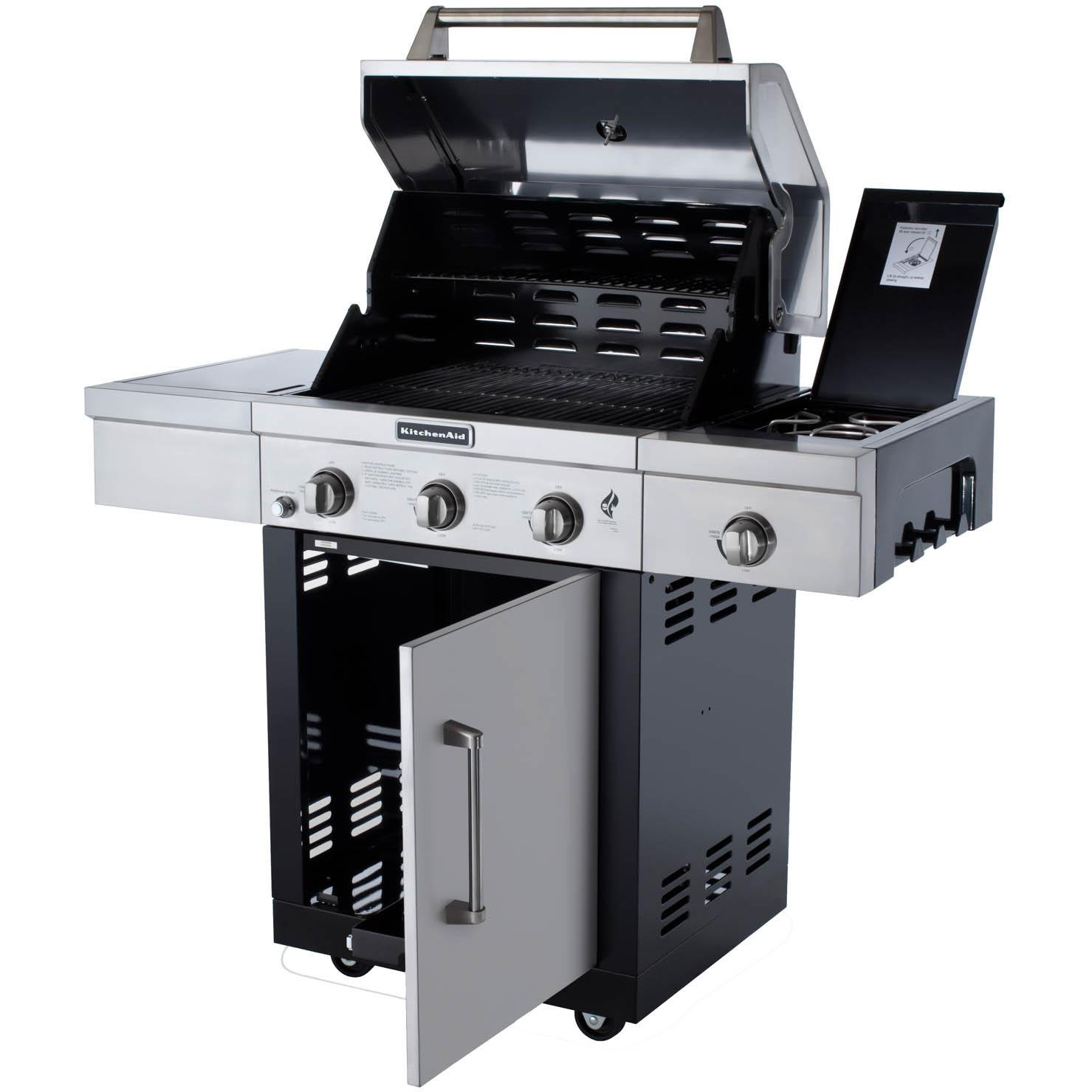 Amazon.com: 3-Burner Propane Gas Grill with Side Burner and Grill ...