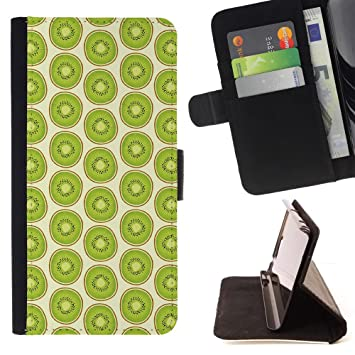 Graphic4You KIWI Patrón Cuero Carcasa Funda Monedero para Motorola Droid Turbo 2