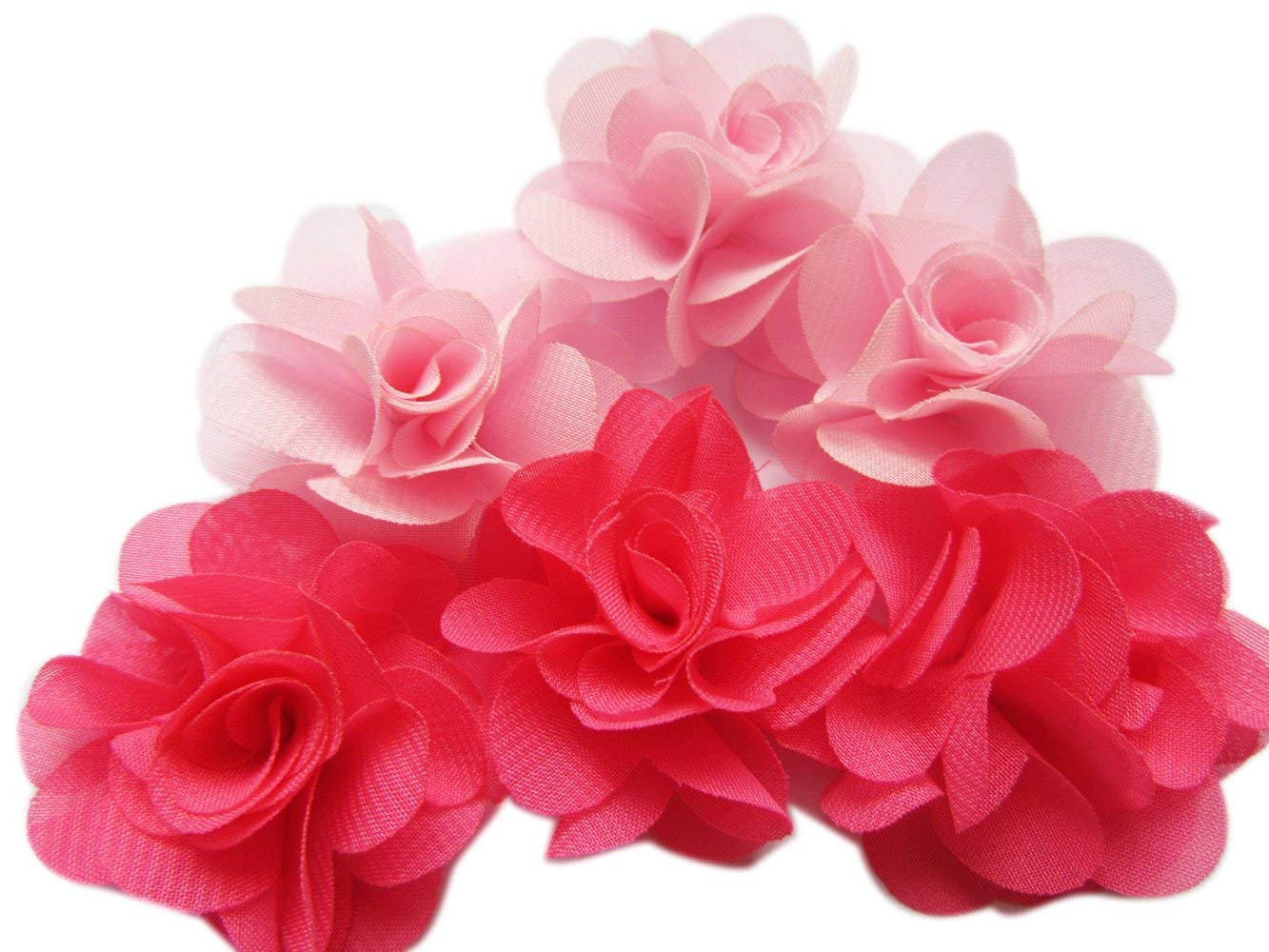30PCS 4 cm MINI ruban satin solide Fleur pour cheveux accessoires Vêtements et accessoires pour bébé Accessoires de puériculture