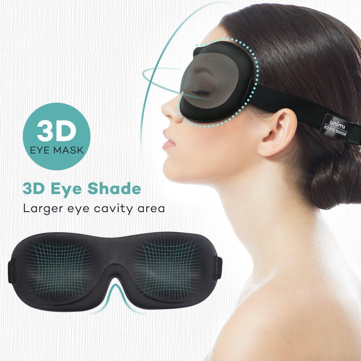 Unimi Premium Schlafmaske, 3D Augenmaske Schlafen Bequem und Weich ...