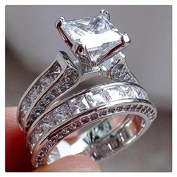 Amazon.com: Litetao - Anillo de diamante para pareja, estilo ...