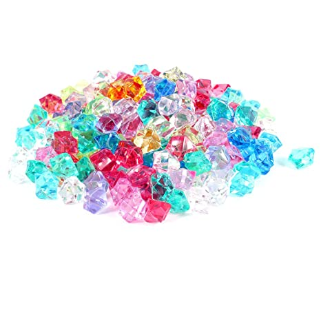 sourcing map Pecera Acuario Falso Piedras de Cristal Decoración Tres Color 130 pcs