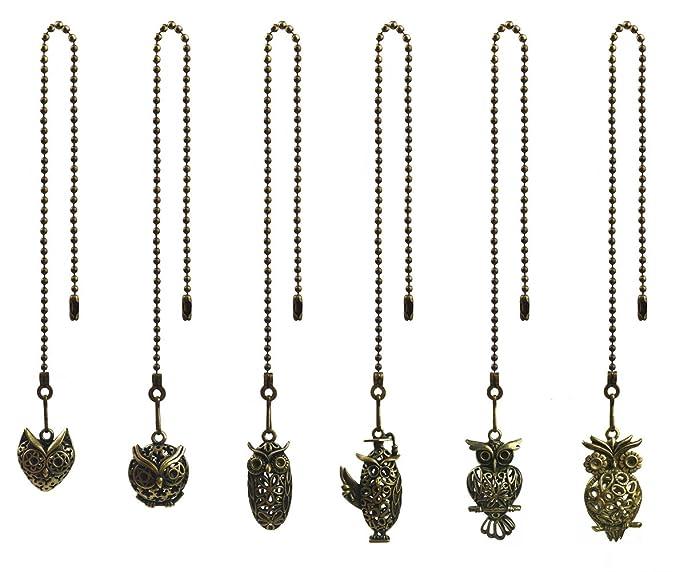 Amazon.com: Hyamass - 6 abalorios con forma de búho, estilo ...