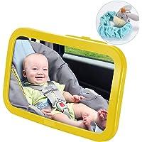 VicTsing Specchietto Retrovisore Bambini, Specchietto Regolabile Neonato per Sicurezza Poggiatesta Posteriore Auto, Specchio Auto Bambino