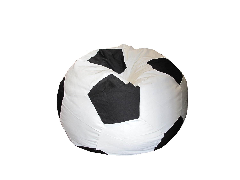 Cortina Casa - Puff tipo Balón de Fútbol Negro / Blanco: Amazon.es ...