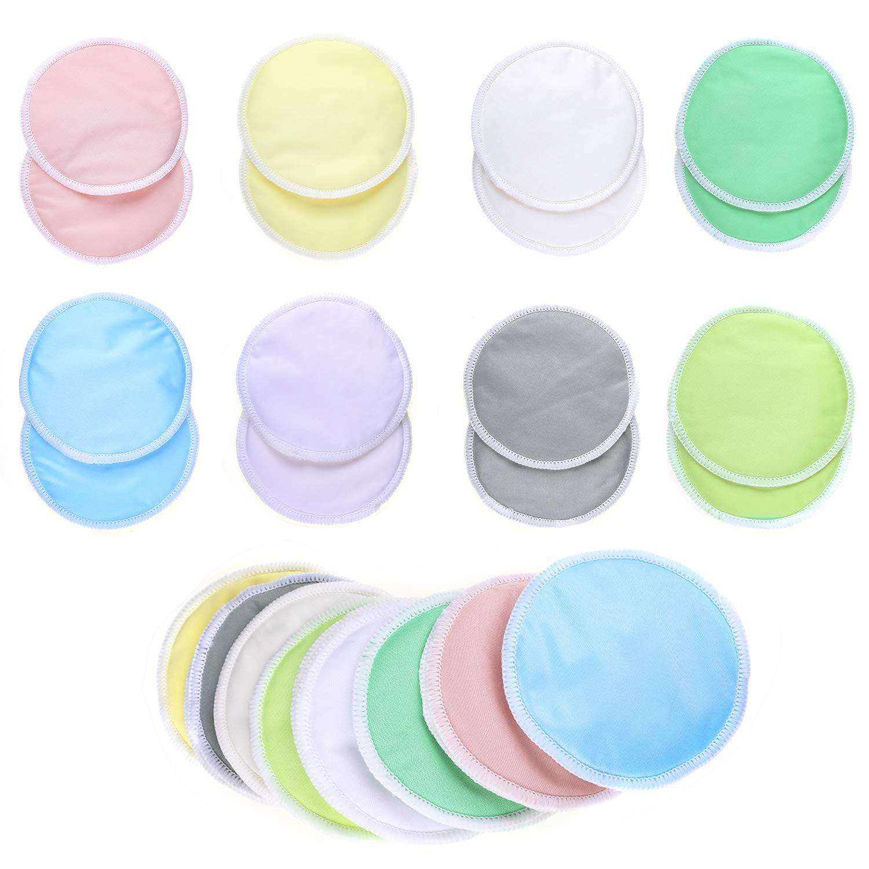 Hifot Coussinets d'allaitement en bambou bio 16 pièces (8 paires), ensemble de coussinets d'allaitement réutilisables lavables