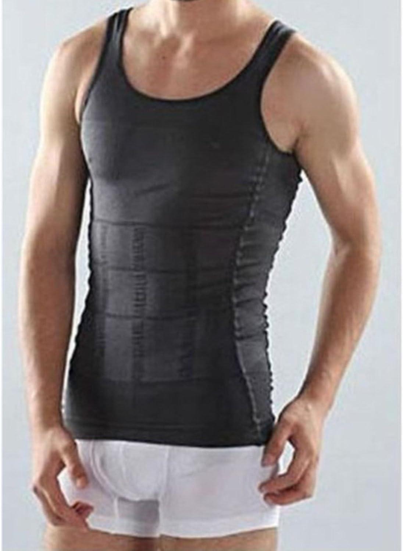 Mens Slimming Body Slim N Lift Shaper Belly Buster Underwear Vest Compression
