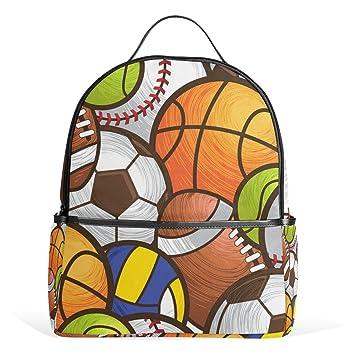 ALAZA Baloncesto Béisbol Fútbol Mochila para School Bookbag: Amazon.es: Equipaje