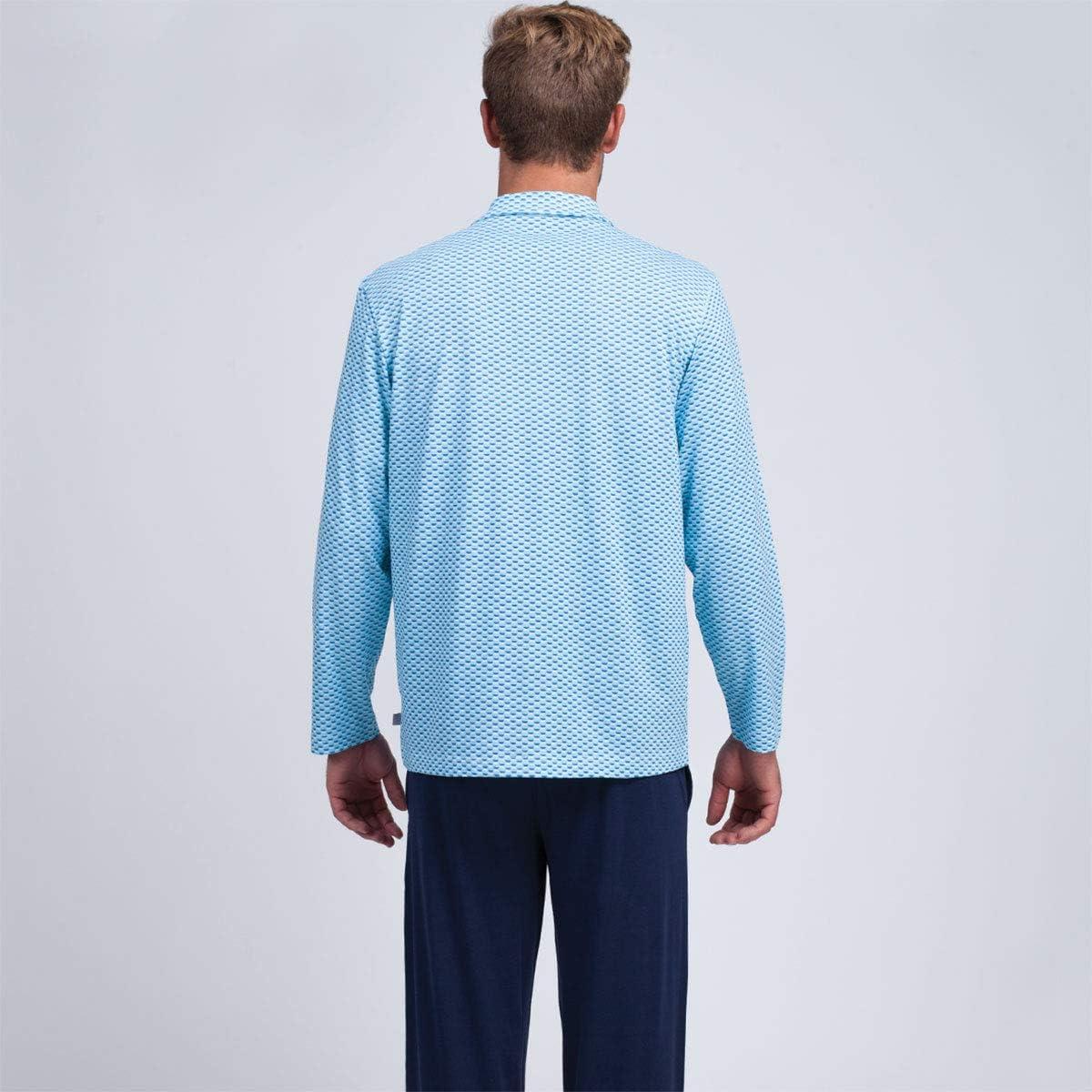 Eminence Pyjama Long Ouvert Homme Faire des Vagues