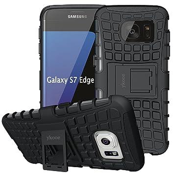 ykooe Funda para Galaxy S7 Edge, Híbrida de Doble Capa ...