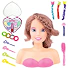 Liberty Imports Princess Styling Head Doll Playset with Beauty and Fashion Accessories for Girls (Brunette)