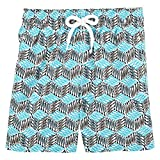 Vilebrequin Fishes Cube Swim Shorts - Boys - azure - 2Yrs