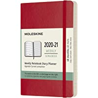 Moleskine - Agenda Semanal de 18 Meses, Agenda de Bolsillo 2020/2021, Agenda Semana Vista con Tapa Dura y Cierre…