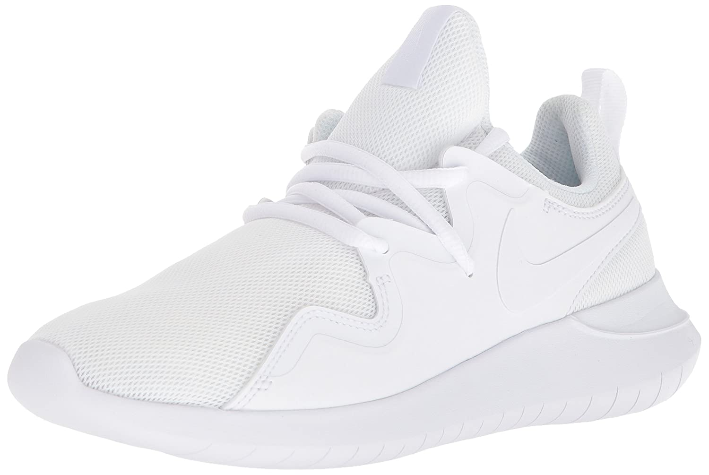 NIKE Women's Tessen Running Shoe B0733VXB1C 10 B(M) US|White/White - Black
