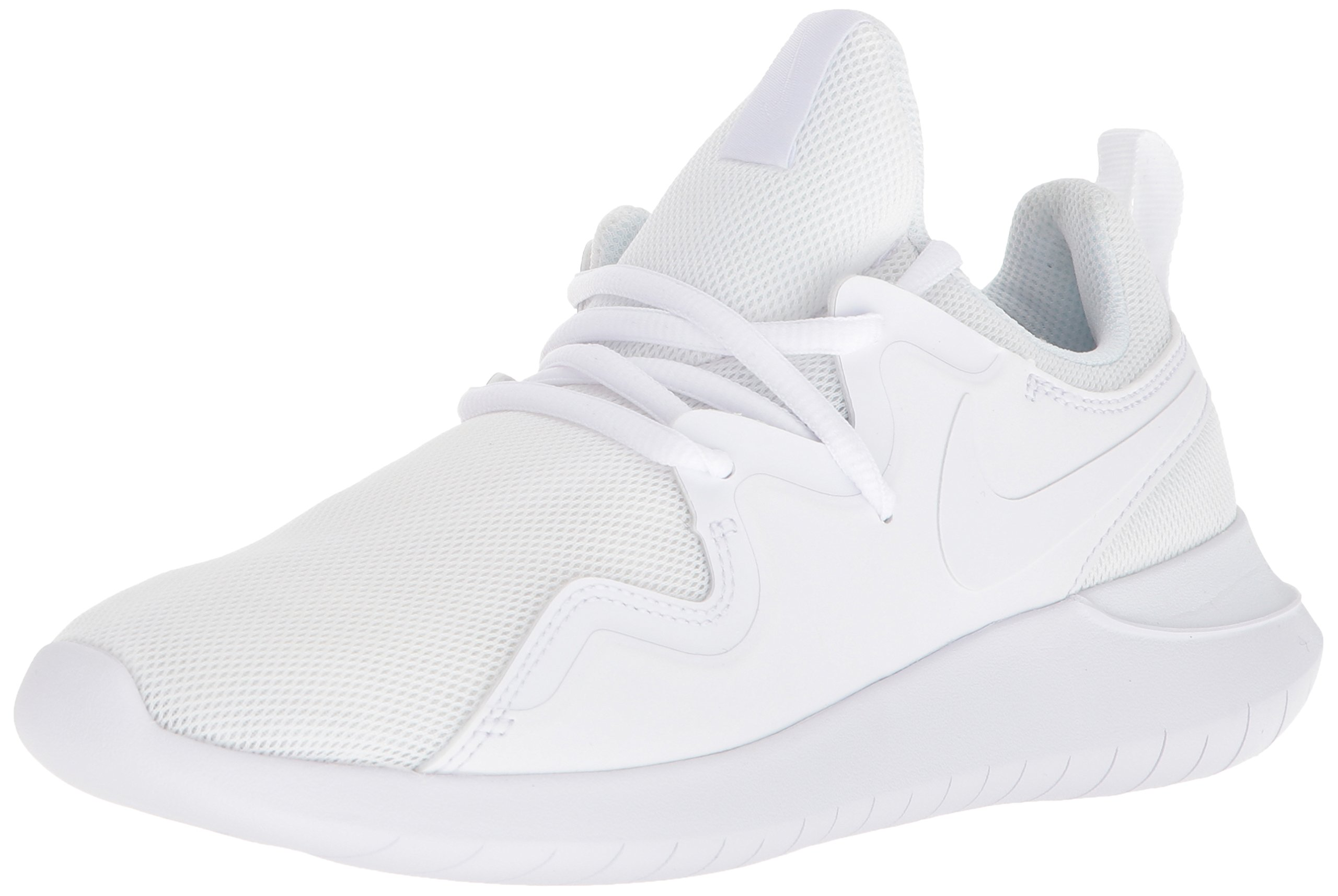 NIKE Women's Tessen Running Shoe, White/White-Black, 7 Regular US