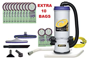 Proteam SuperCouch full accessories with extra 10 bags