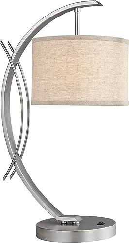 Woodbridge Lighting 13481STN-S10801 Eclipse Satin Nickel Table Lamp,7.5″ x 21.75″